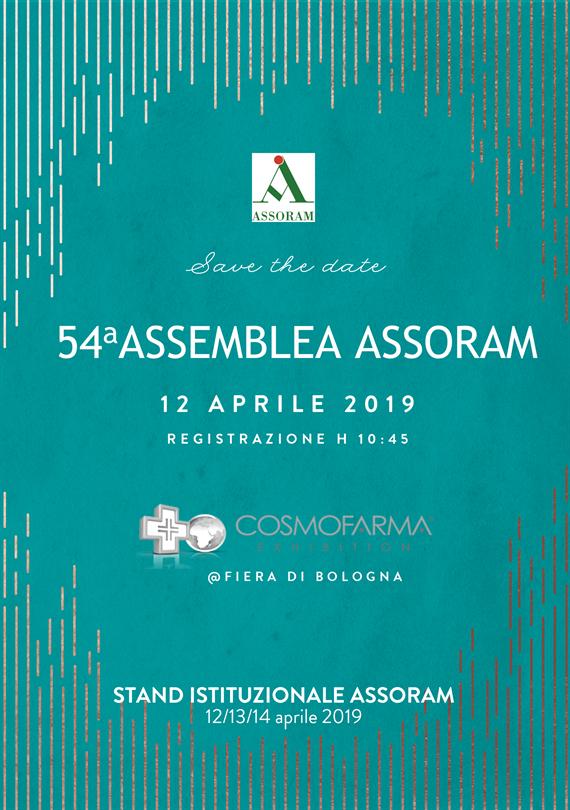 54° ASSEMBLEA ASSORAM - COSMOFARMA 2019 @ BOLOGNA - Fiera