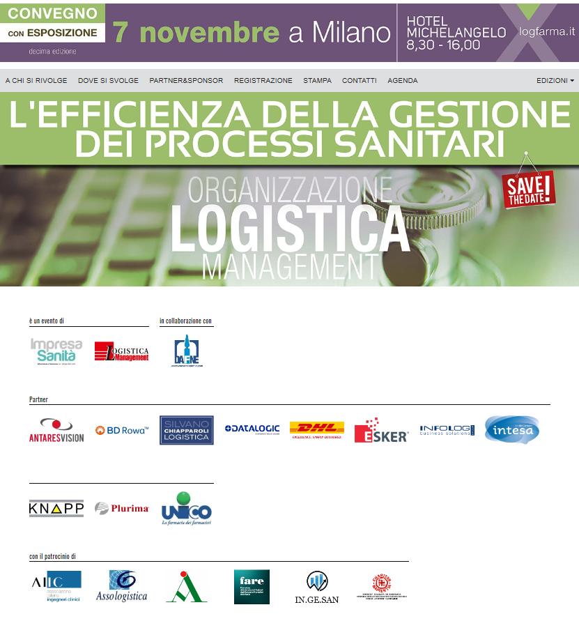 "Logfarma 2019 ""L'EFFICIENZA DELLA GESTIONE DEI PROCESSI SANITARI"" @ Hotel Michelangelo"